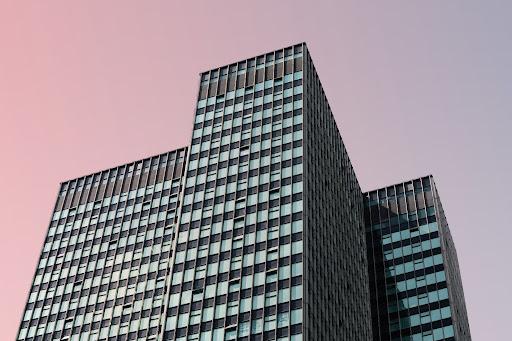 smart glass windows on a tall building